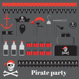 Piratów partyjni pomysły Zdjęcia Royalty Free