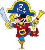 Pirat. Vector illustration of drunken cartoon pirate Royalty Free Stock Images
