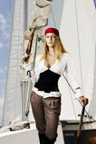 Pirat atractivo de la mujer joven Fotos de archivo
