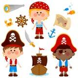 Pirat chłopiec wektoru kolekcja Obraz Stock