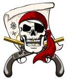 pirat czaszka Fotografia Royalty Free