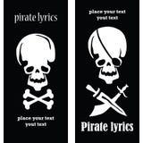 Pirat czaszki Fotografia Royalty Free