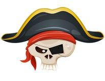 Pirat czaszki głowa royalty ilustracja