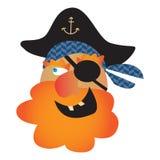 Pirat czaszki ilustracja Obraz Stock