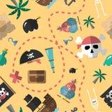 Pirat deseniowa bezszwowa wektorowa ilustracja Obraz Stock
