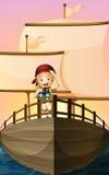 Pirat dziewczyna royalty ilustracja