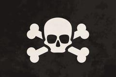 Pirat flaga z czaszką i crossbones royalty ilustracja