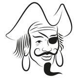 Pirat głowa Fotografia Royalty Free
