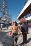 Pirat galanteryjnej sukni kostium Obrazy Stock