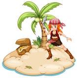 Pirat i wyspa Obraz Royalty Free