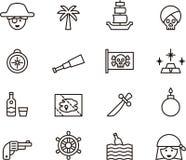 Pirat ikony set Zdjęcia Stock