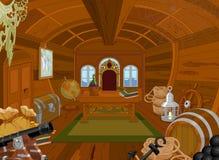 Pirat kabina royalty ilustracja