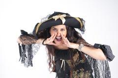 Pirat kobieta Zdjęcia Royalty Free