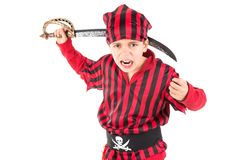 pirat kostiumowe chłopca Zdjęcie Royalty Free