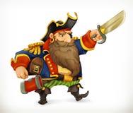 Pirat, lustiger Charakter lizenzfreie abbildung