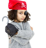 Pirat mała dziewczynka Obraz Royalty Free