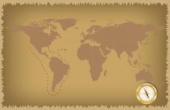 Pirat mapa Zdjęcia Stock
