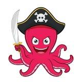 Pirat ośmiornica Zdjęcie Royalty Free