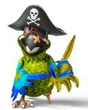 Pirat papugi kreskówka zdjęcia stock