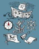 Pirat rzeczy ilustracja wektor