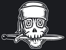 Pirat skull b&w Stock Photos
