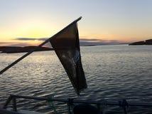 Pirat solnedgång fotografering för bildbyråer
