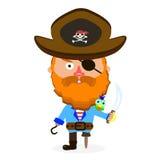 Pirat z kordzikiem Zdjęcie Royalty Free