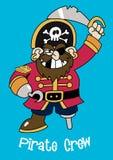 Pirat załoga kapitan. Obraz Stock