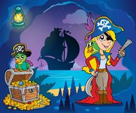 Pirat zatoczki tematu wizerunek 9 Fotografia Royalty Free