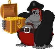 Pirata áspero do gorila Imagens de Stock Royalty Free