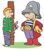 Pirata ilustração stock