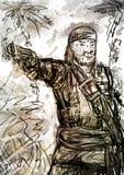 Pirata anziano con una pistola Immagine Stock