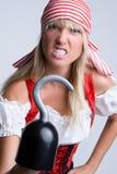 Pirata arrabbiato di Halloween Fotografie Stock Libere da Diritti