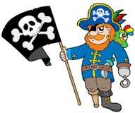 Pirata com bandeira Imagem de Stock Royalty Free