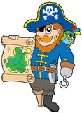 Pirata com mapa do tesouro Imagem de Stock