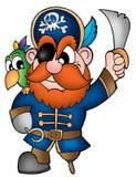 Pirata com papagaio Imagem de Stock Royalty Free