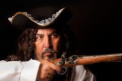 Pirata com pistola fotos de stock