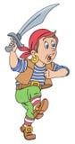 Pirata con el machete stock de ilustración