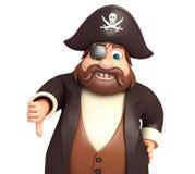 Pirata con i pollici giù Immagine Stock