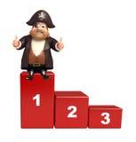 Pirata con il livello 123 Immagini Stock Libere da Diritti