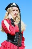 Pirata da mulher Imagem de Stock Royalty Free