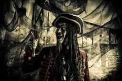Pirata de Dia das Bruxas imagem de stock