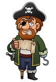 Pirata de la historieta stock de ilustración
