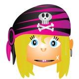 Pirata de la muchacha Fotos de archivo libres de regalías