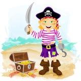 Pirata de la muchacha Imagen de archivo libre de regalías