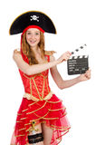 Pirata de la mujer Imagen de archivo