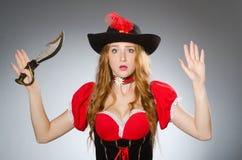 Pirata de la mujer Fotos de archivo