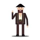 Pirata de sexo masculino del vector en estilo plano Imagen de archivo