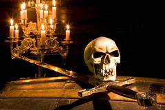 Pirata de Víspera de Todos los Santos Imágenes de archivo libres de regalías