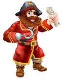 Pirata del fumetto con la mappa del tesoro illustrazione di stock